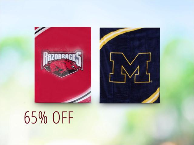 Officially Licensed NCAA Blankets - $34.99 Shipped