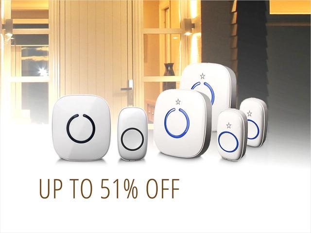 500-Ft Wireless Doorbells — from $17.09 shipped