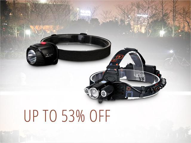 Flashlights and Headlamps - from $8.50 Shipped