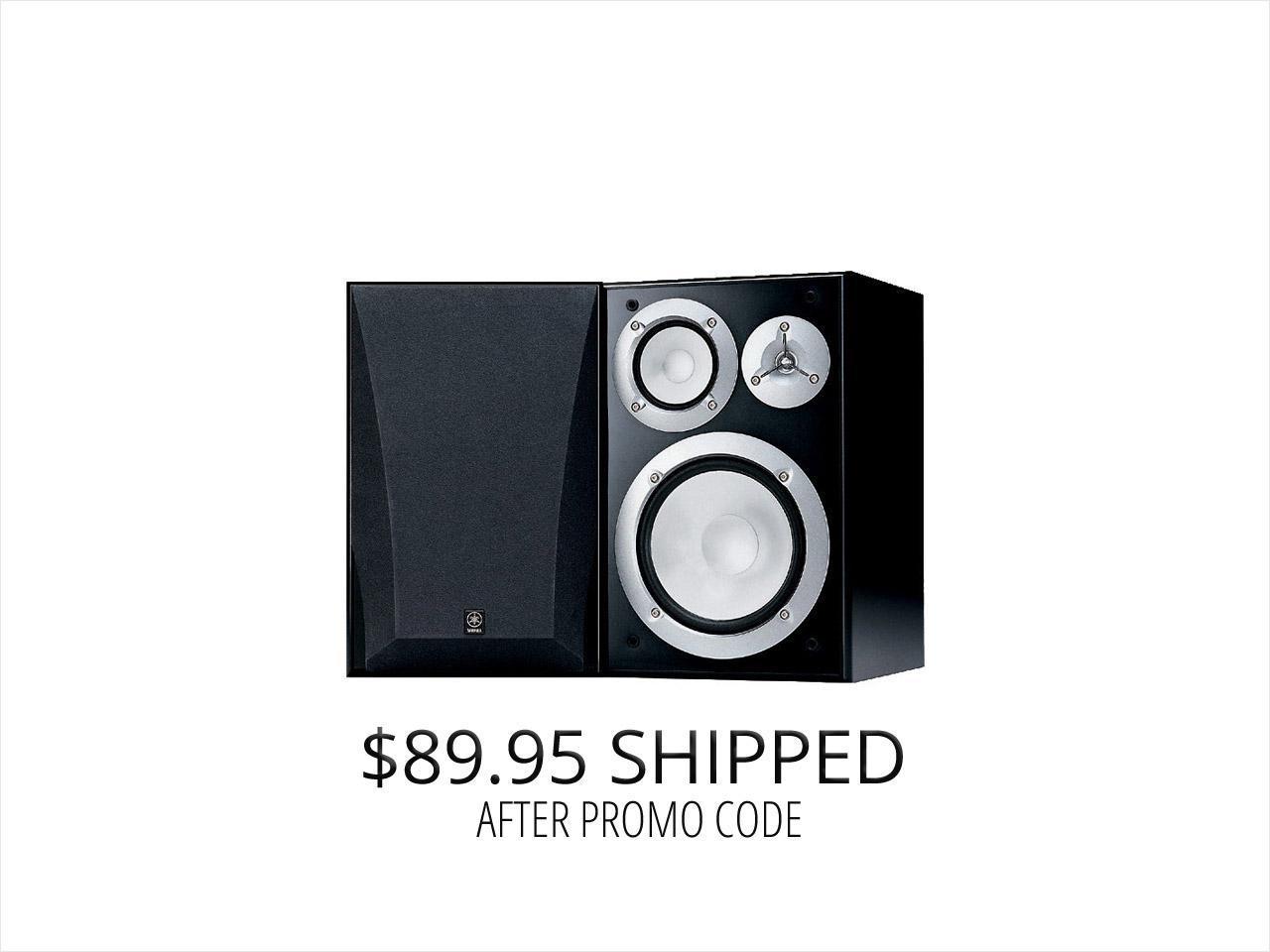 Yamaha NS 6490 3 Way Bookshelf Speakers Black Finish Pair