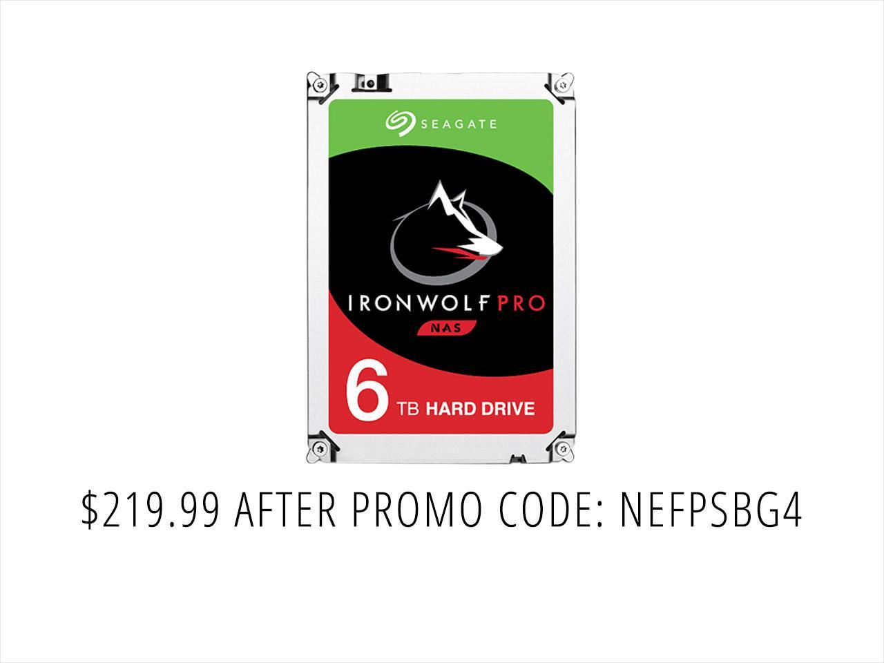 "Seagate IronWolf Pro ST6000NE0021 6TB 7200 RPM 256MB Cache SATA 6.0Gb/s 3.5"" Internal Hard Drive Bare Drive - OEM"