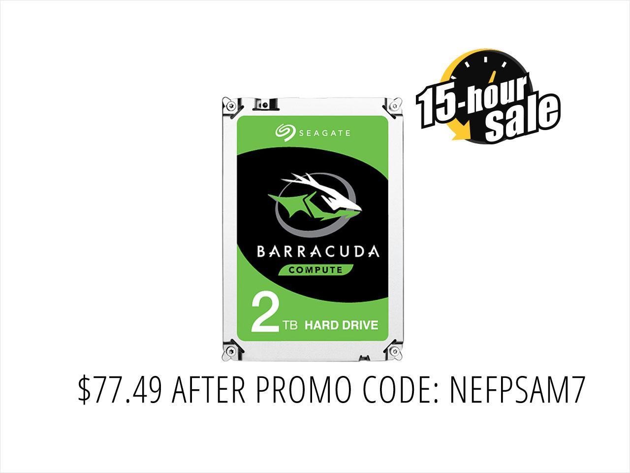 "Seagate 2TB BarraCuda 5400 RPM 128MB Cache SATA 6.0Gb/s 2.5"" Laptop Internal Hard Drive ST2000LM015 - OEM"