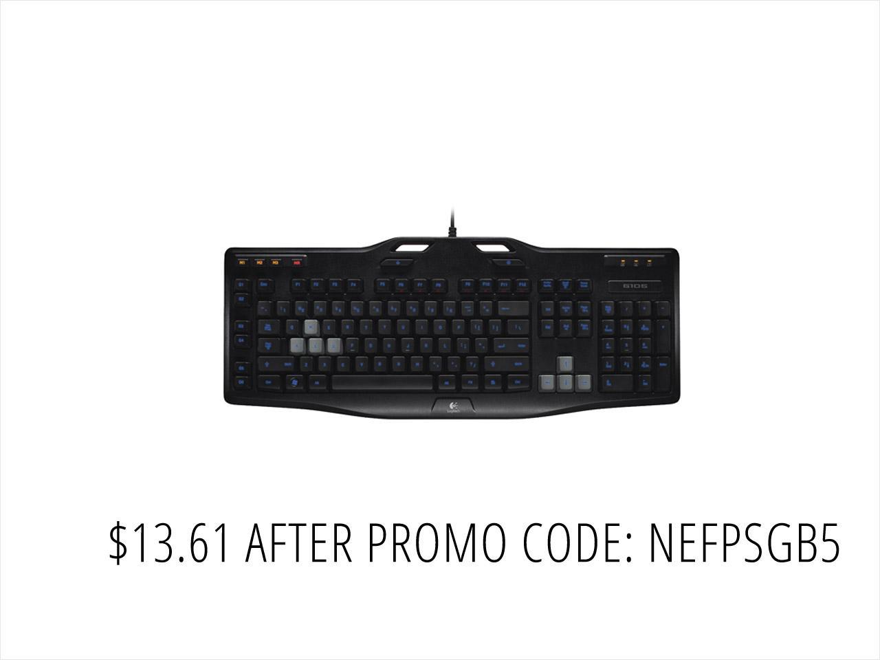 Refurbished: Logitech 920-003371X G105 Gaming Keyboard