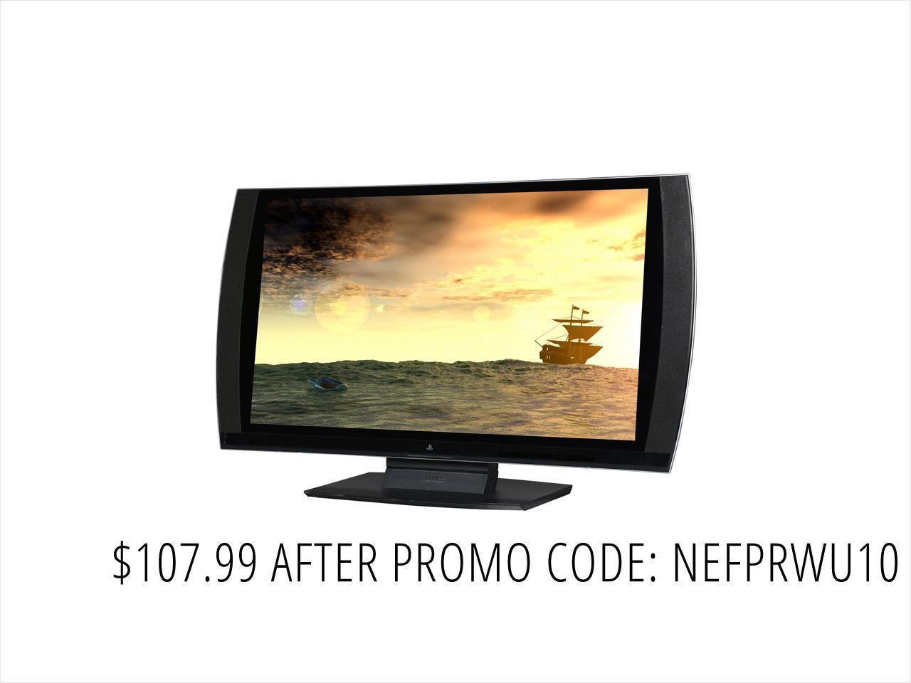 "Refurbished: SONY CECH-ZED1U-PB-R-A 24"" HDMI LED Backlight LCD 3D Monitor Grade A"