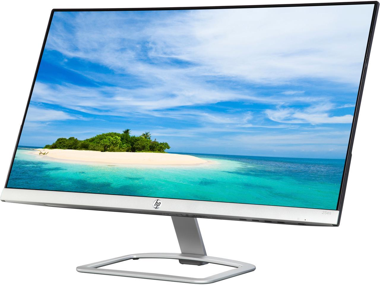 "Refurbished: HP 25es 25"" 7 ms (GTG) Widescreen LED Backlight 1080p IPS Monitor,"