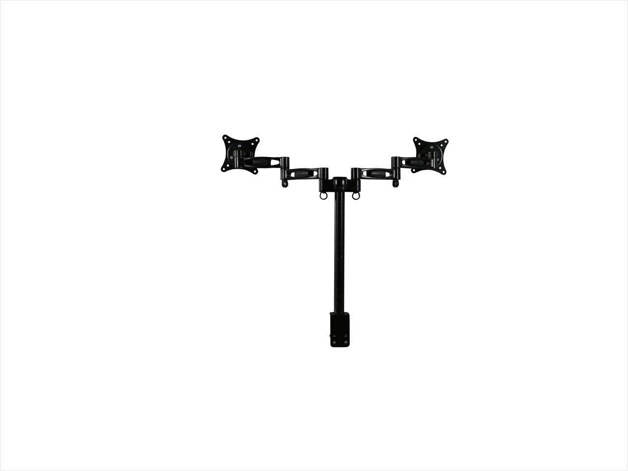 "Rosewill RMS-DDM05 Dual Monitor Desk Mount, Support 13"" - 27"" LCD / LED Display VESA 75 / 100, Tilt +/-15 Degree, Swivel 360 Degree, Rotate 360 Degree, Max. Load: 17.64 lbs."