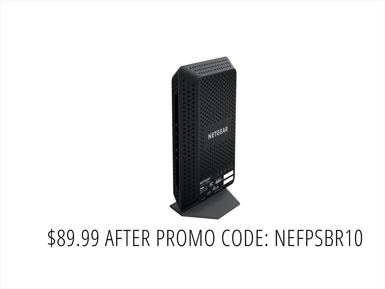 NETGEAR CM600 24 x 8 960 Mbps DOCSIS 3.0 High Speed Cable Modem Certified by Comcast XFINITY, Time Warner, and Other Service Providers