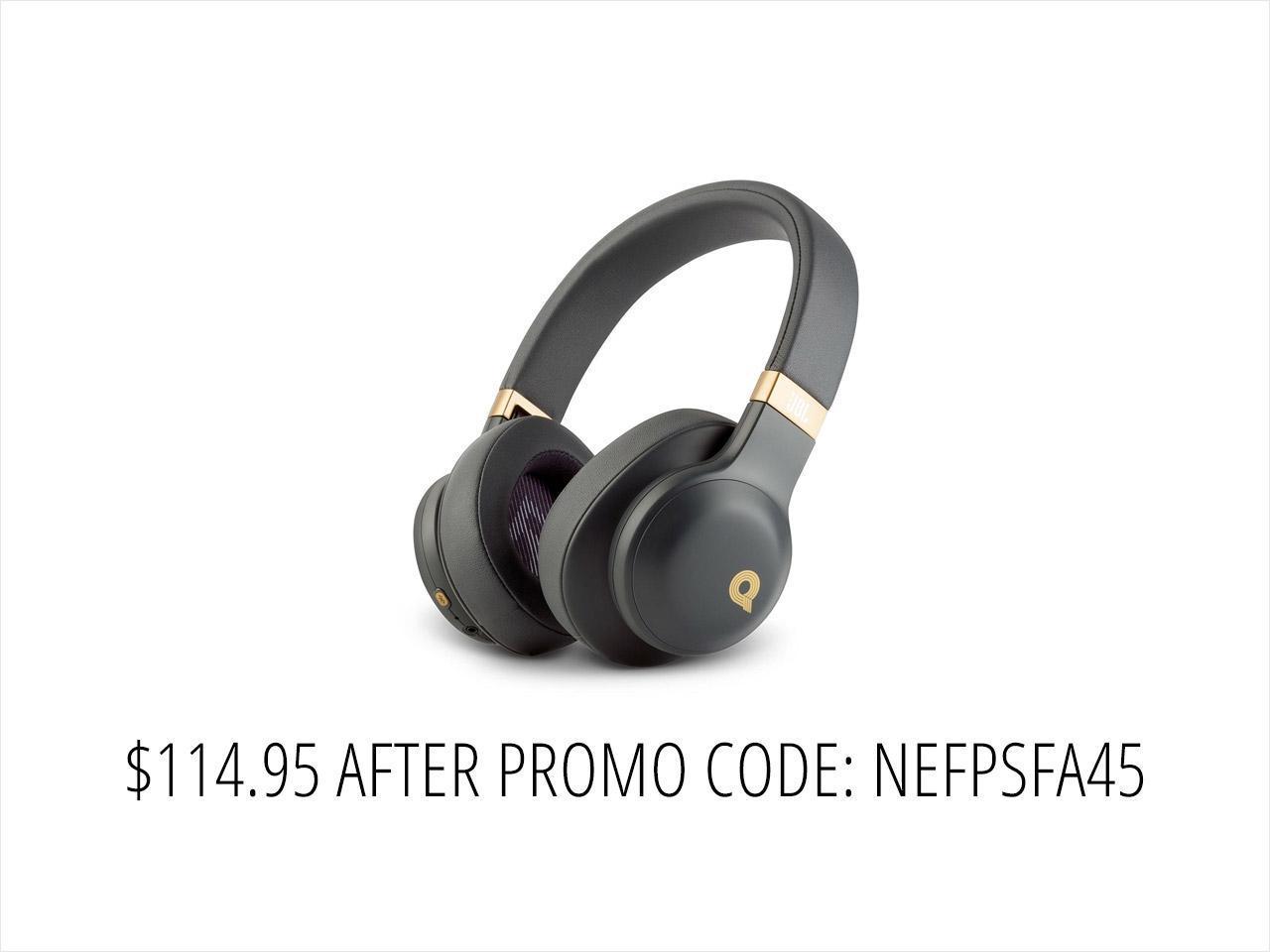 ecfa8e34cb2935 JBL E55BT Quincy Edition Wireless Over-Ear Headphones -Black ...