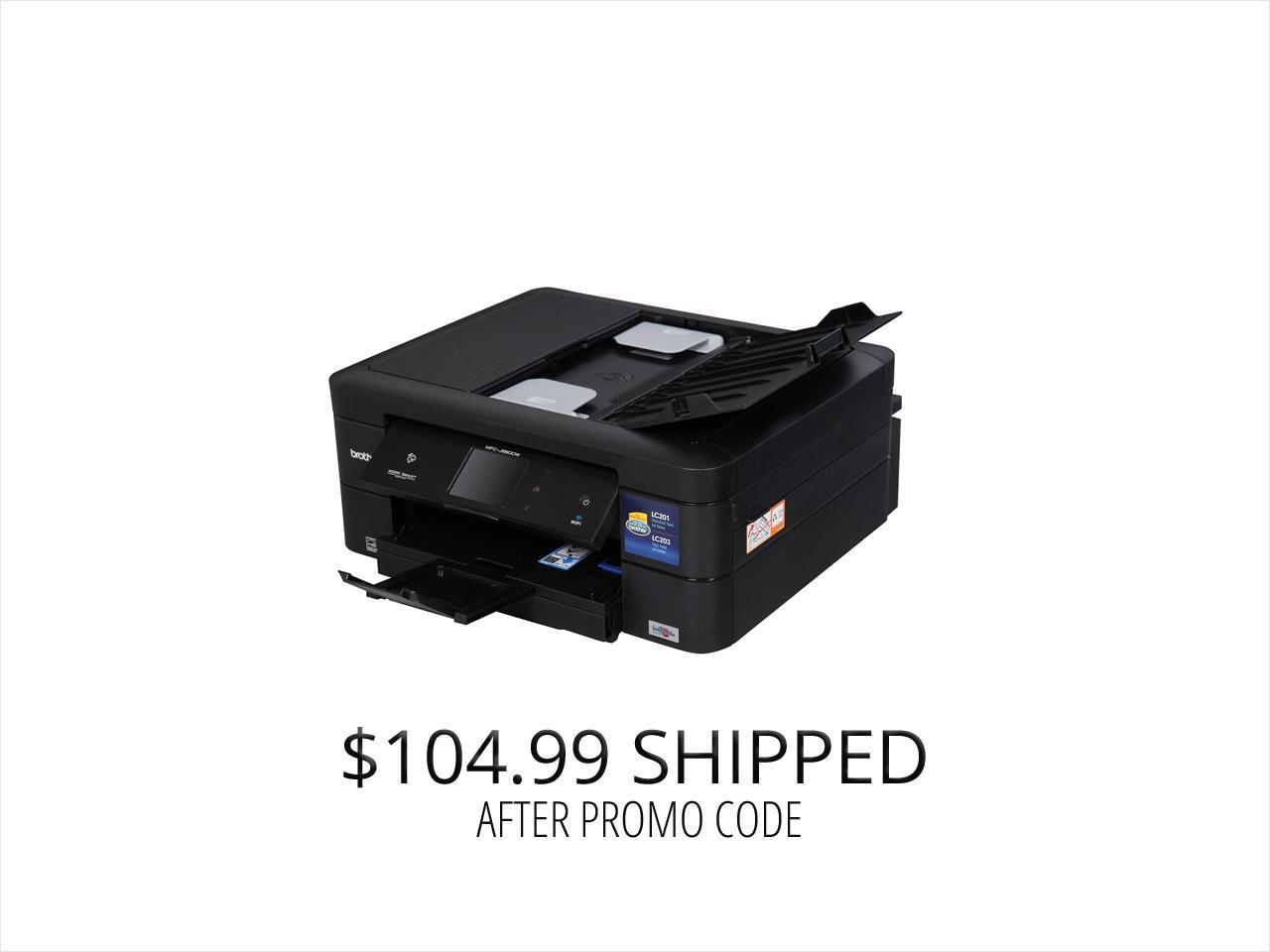 Brother MFC-J880dw Duplex Up to 6000 x 1200 DPI USB / Wireless Color Inkjet All-In-One Printer