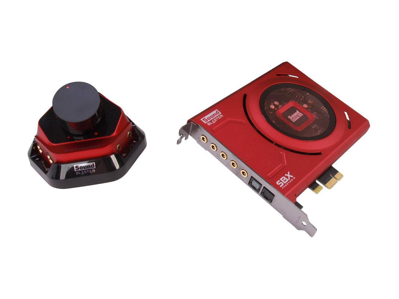 Creative Sound Blaster Zx 116dB PCIe Gaming Sound Card with 600 ohm Headphone Amp and Desktop Audio Control Module