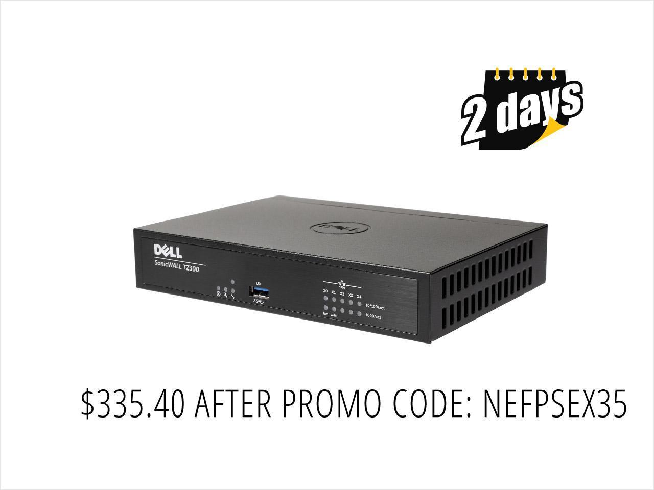 SonicWall TZ300  01-SSC-0215 VPN Wired Gen 6 Firewall appliance (hardware only)