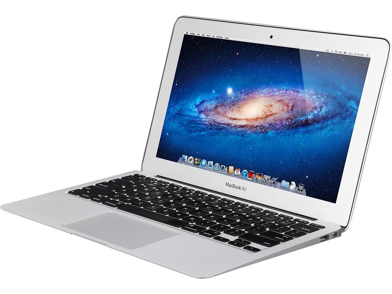 "Refurbished: Apple Laptop MacBook Air MC968LL/A Intel Core i5 2nd Gen 2467M (1.60 GHz) 2 GB Memory 64 GB SSD 11.6"" Mac OS X v10.7 Lion (B Grade)"