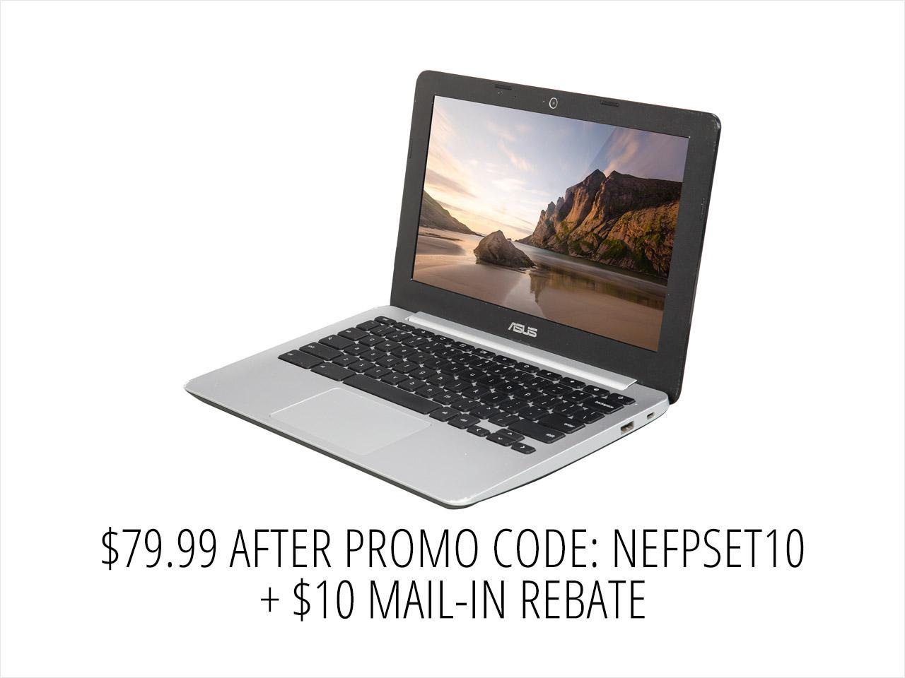 "Refurbished: ASUS C200MA-DS01/C Grade C Chromebook Intel Celeron N2830 (2.16 GHz) 2 GB Memory 16 GB eMMC 11.6"" Chrome OS"