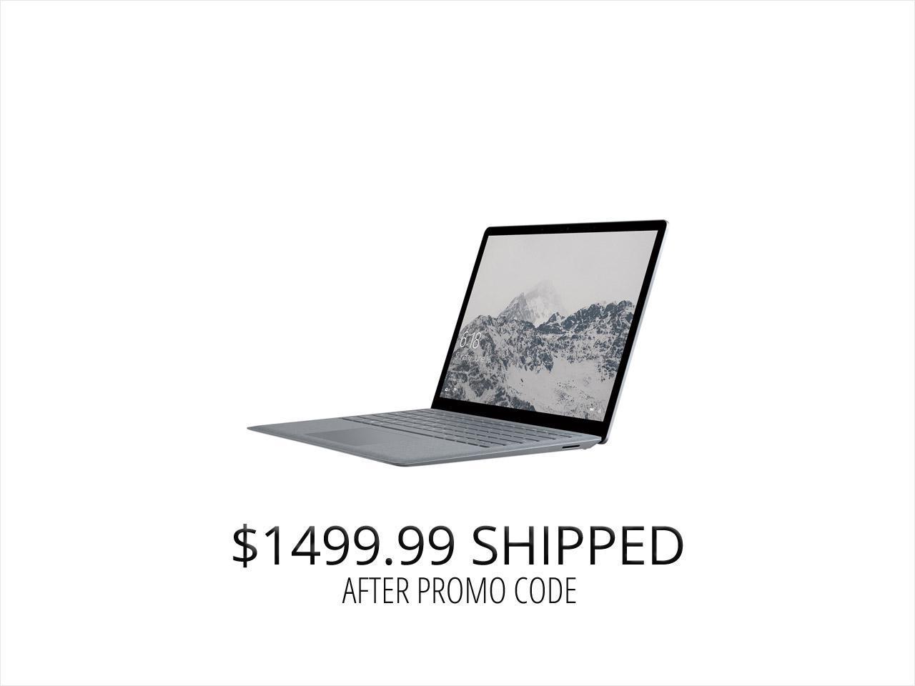 "Microsoft Surface 13.5"" Laptop DAJ-00001 Intel Core i7 7th Gen 7660U (2.50 GHz) 8 GB Memory 256 GB SSD Intel Iris Plus Graphics 640 Touchscreen Windows 10 S - Platinum"