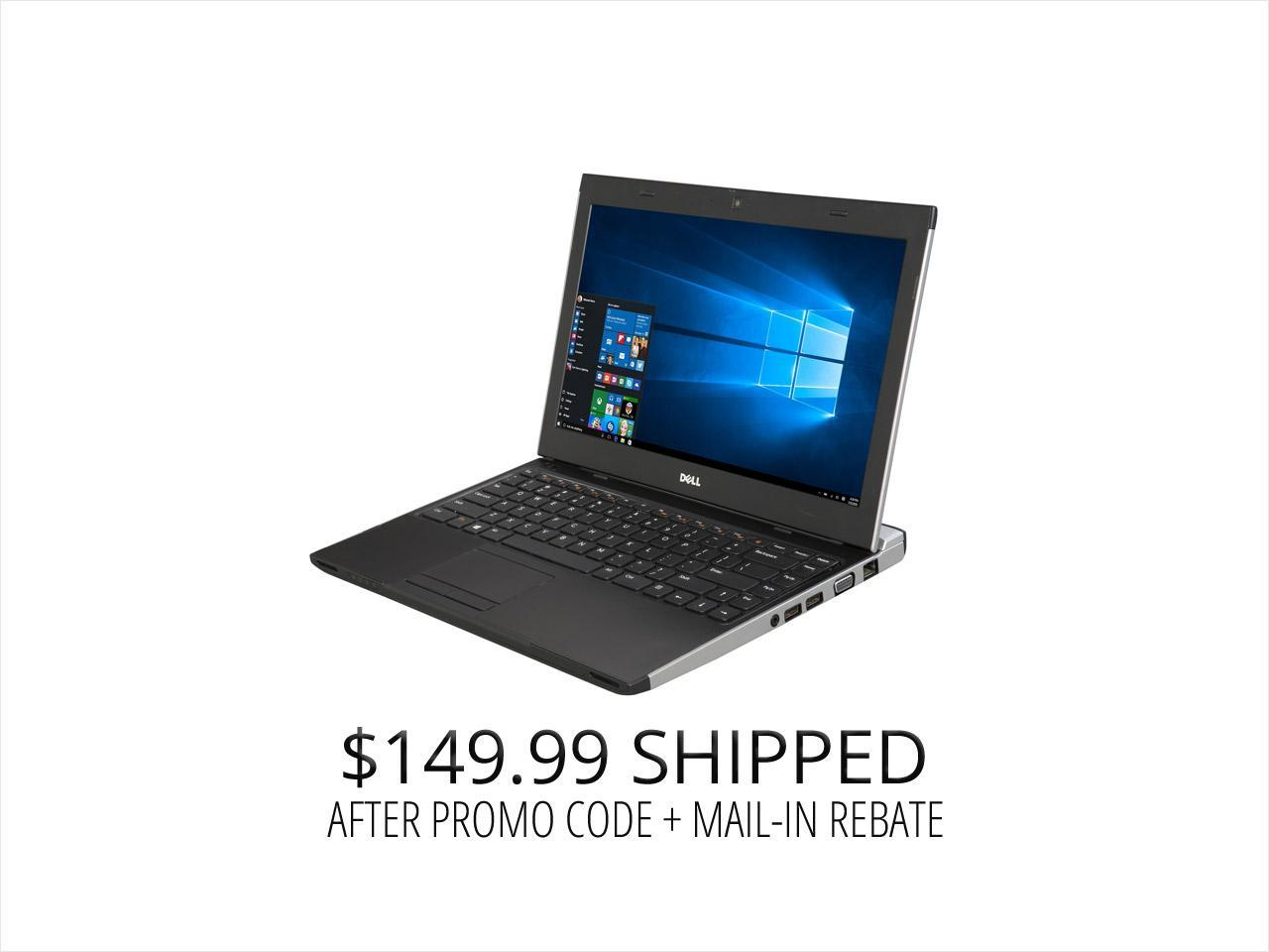 "Refurbished: DELL Laptop 3330 Intel Core i5 3rd Gen 3337U (1.80 GHz) 4 GB Memory 250 GB HDD 13.3"" Windows 10 Pro"