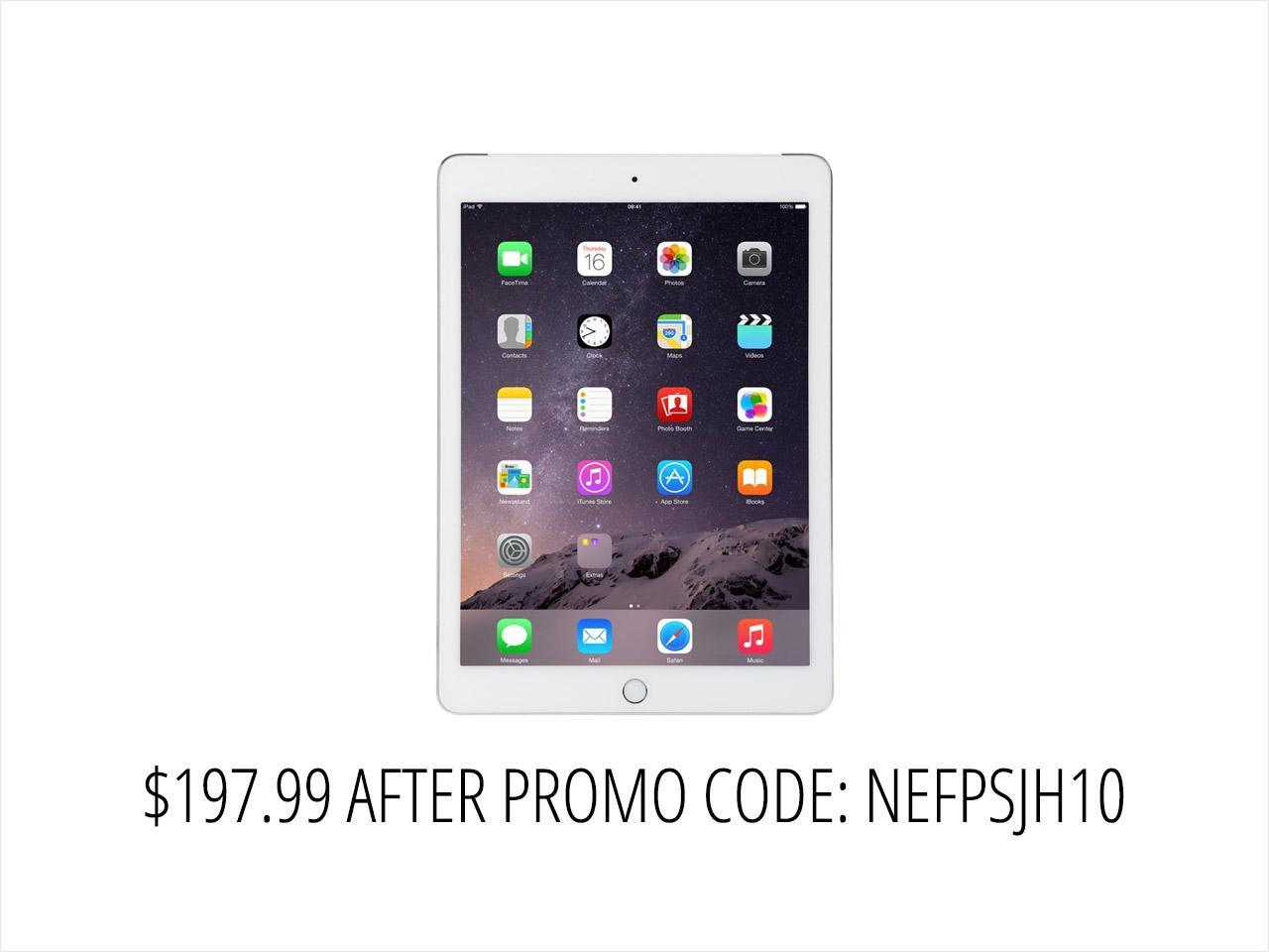 "Refurbished: Apple iPad Air 2 MH2N2LL/A Apple A8X 1.50 GHz 64 GB Flash Storage 9.7"" 2048 x 1536 Grade B Tablet (Wi-Fi + Cellular) iOS Silver"