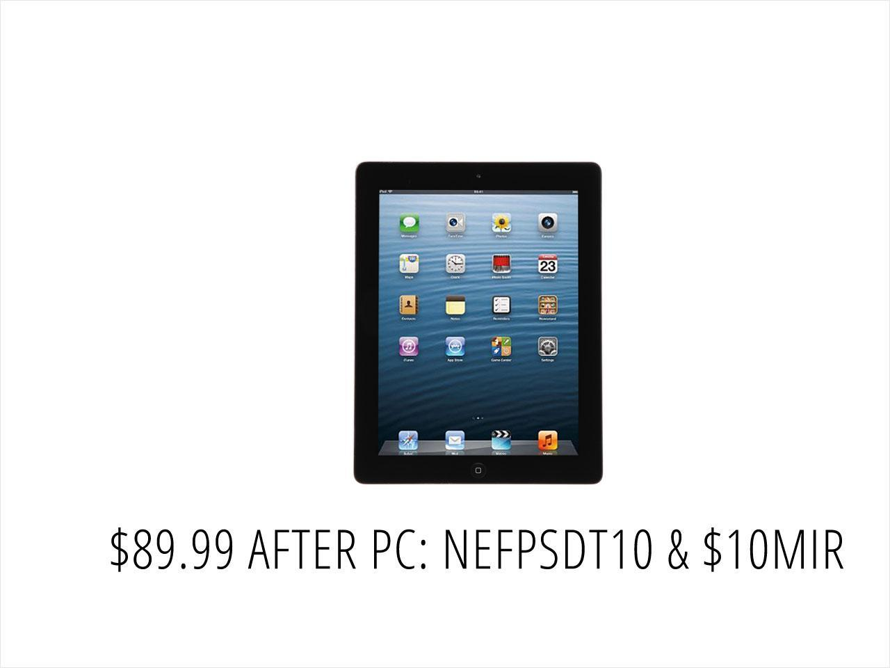 "Refurbished: Apple iPad 3 (MC705LL/A) Apple A5X 1.00 GHz 1 GB Memory 16 GB Flash Storage 9.7"" 2048 x 1536 - Wi-Fi Only - C Grade Black"