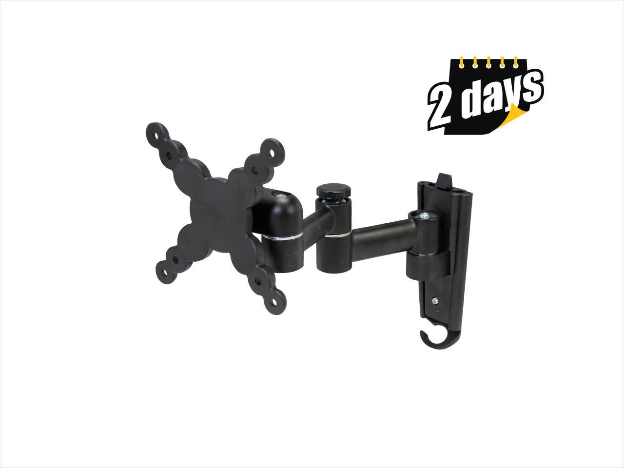 """Rosewill RMS-MA2740 - 13"""" - 24"""" LCD LED TV Articulating Tilt & Swivel Wall Mount - Max. Load 40 lbs., VESA Up to 100x100mm, Black, Compatible with Samsung, Vizio, Sony, Panasonic, LG and Toshiba TV"""