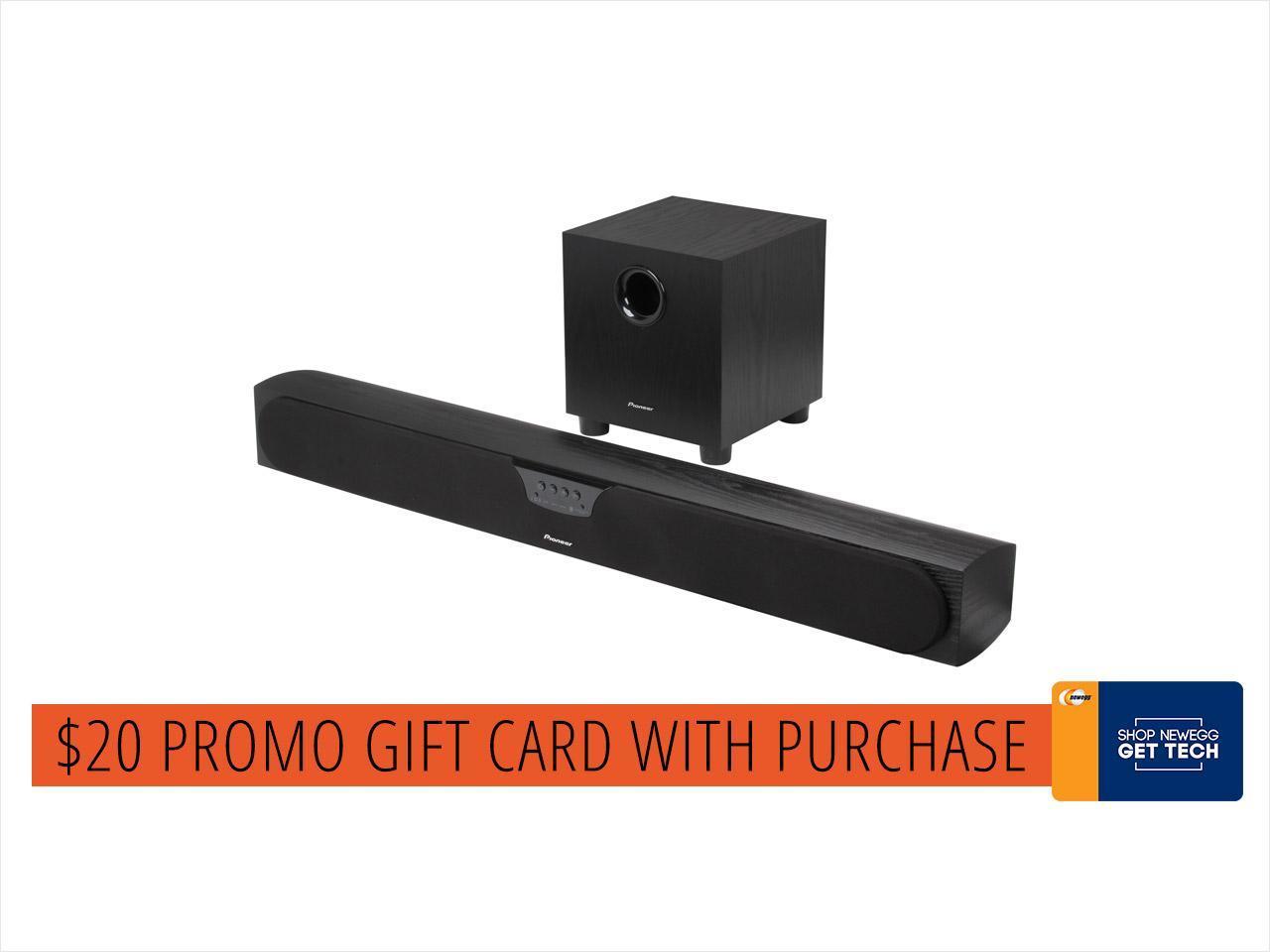 Pioneer SP-SB23W Andrew Jones Bluetooth Soundbar System with Wireless Sub