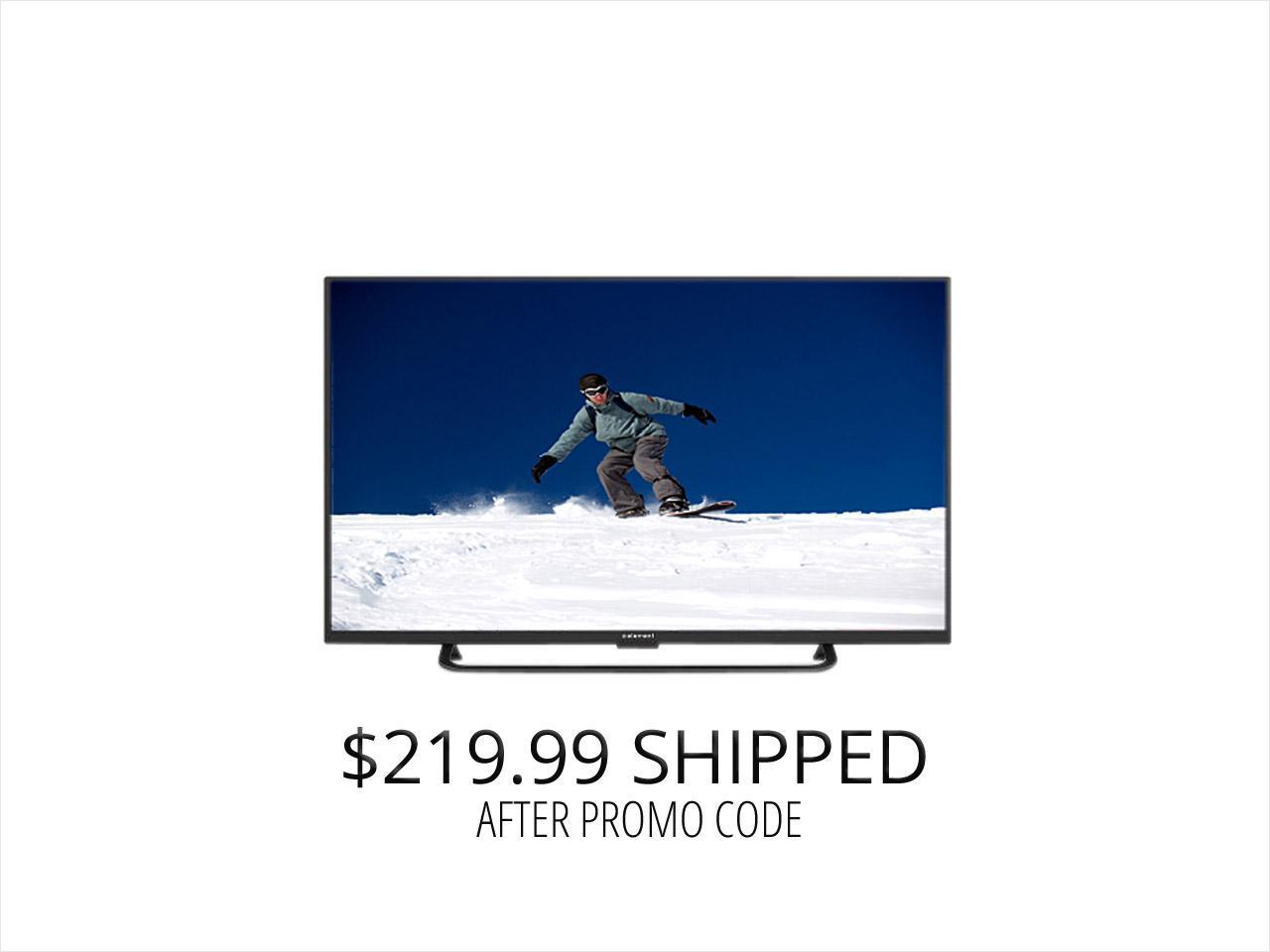 "Refurbished: ELEMENT 50"" 1080p 120Hz LED TV, Double Box"