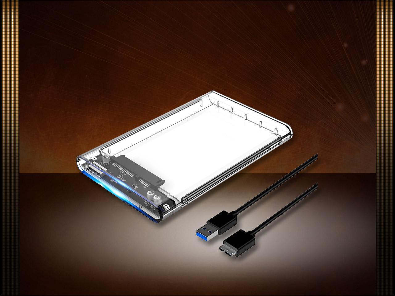 Orico Transparent Usb 30 To Sata 25 Inch External Hard Drive Tebal Hdd Caddy Disk Enclosure Box