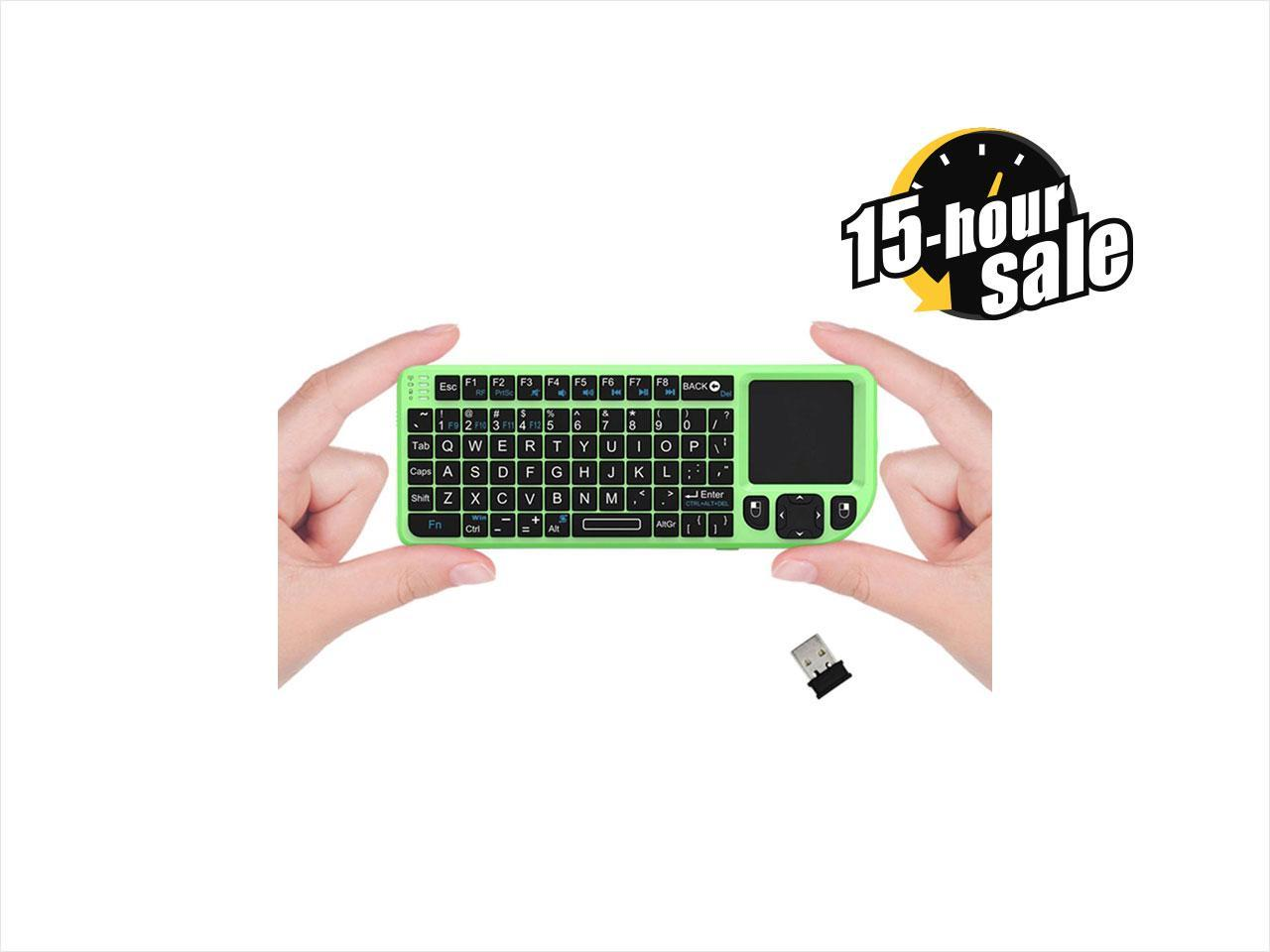 FAVI Mini Keyboard with Laser Pointer - Green (FE01-GR)