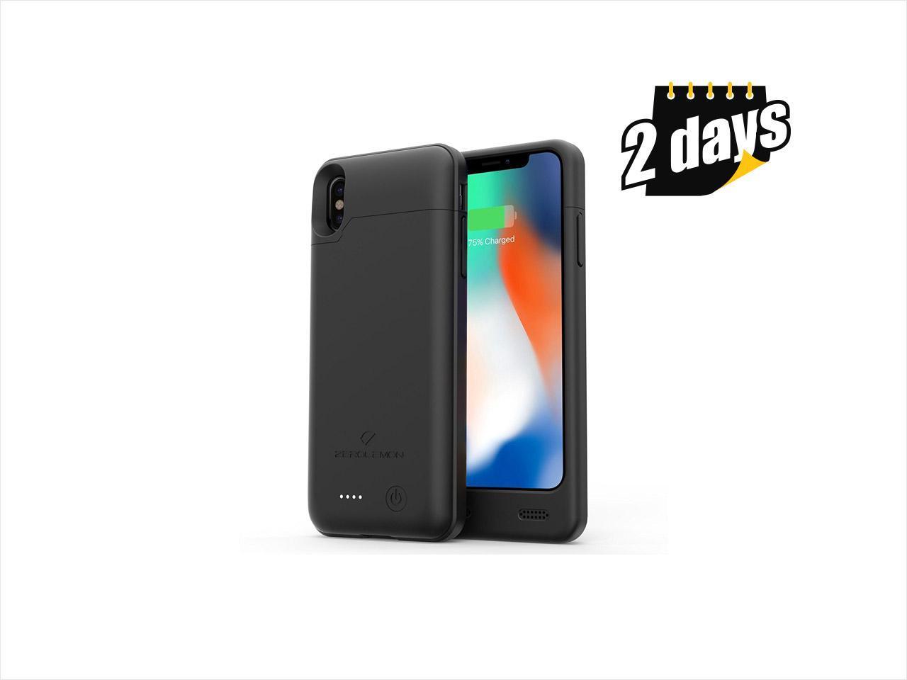 Iphone x battery case zerolemon iphone x 4000mah slim - Iphone x chargeur ...
