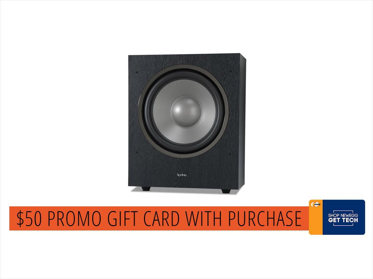 """INFINITY - 12"""" 300W Powered Subwoofer Home Cinema SUBR12BK"""