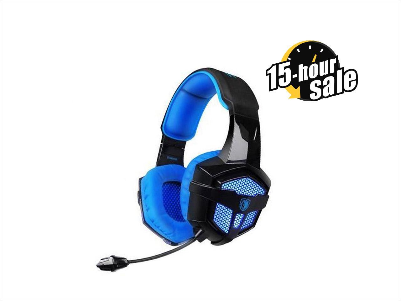 LETTON G5 Stereo Gaming Headset with Micophone for Multi Function Device-BlackBlue
