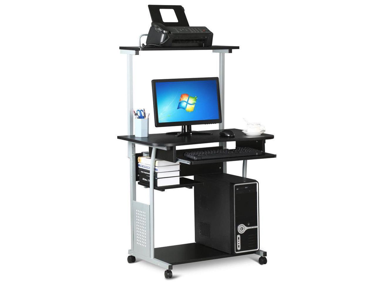 Desk Computer Table W Printer Shelf Home Office Laptop Student Furniture Dorm