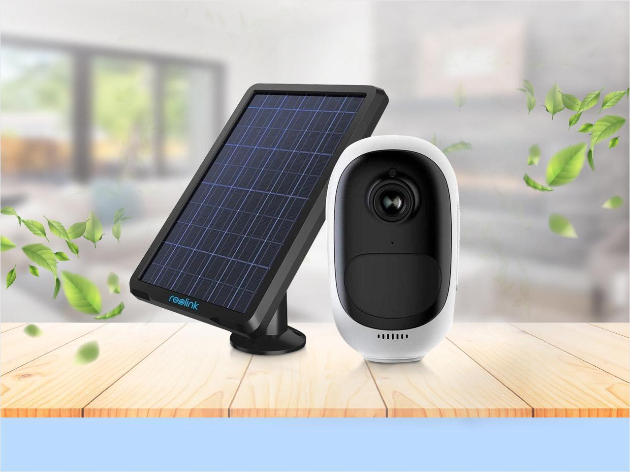 Reolink Argus Pro Battery Camera Solar Powered 100% Wire-free with Night Vision, 2-way Audio, PIR Motion Detection, Rechargeable Battery, 135° View Angle