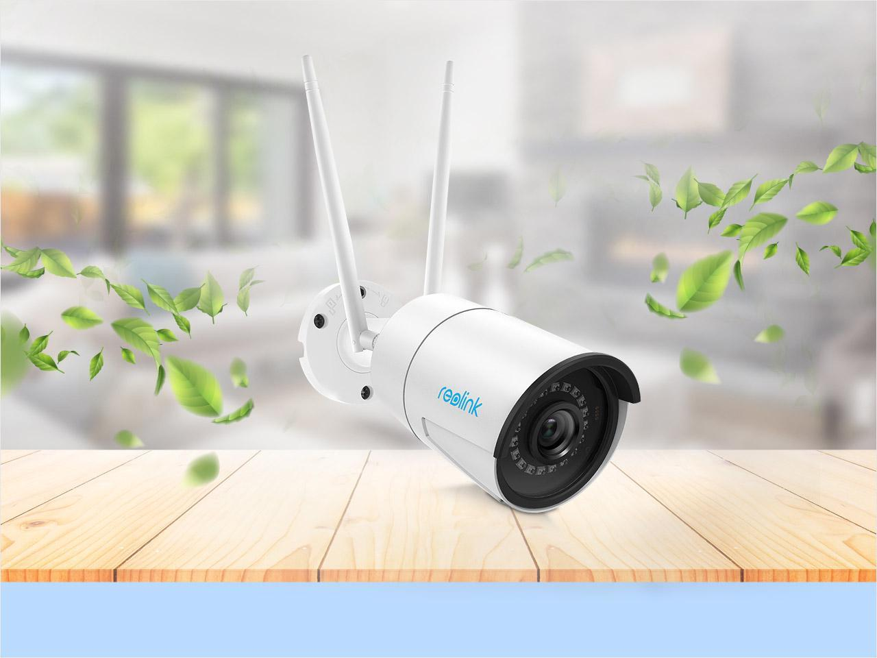 Reolink 4MP CCTV Camera Wired Wireless Support 2.4G/5G WiFi, 100ft Night Vision, Motion Detection, Local Storage, 24/7 Recording RLC-410W