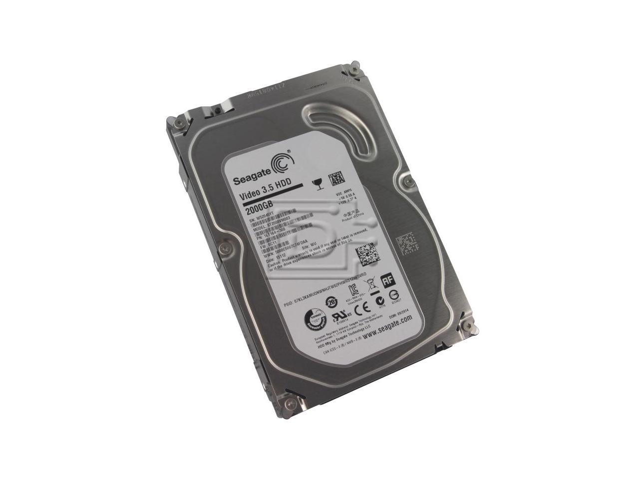"Refurbished: Seagate Grade A ST2000VM003 2TB 3.5"" HDD SATA 6.0Gb/s AV Desktop Internal Hard Drive - OEM"