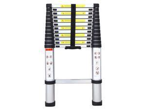 10.5FT Aluminium Telescopic Ladder Extension Multi-Purpose Steps Protable EN131