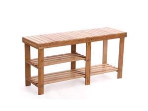 Shoe Storage Bench Seat Organizer Entryway Wood Furniture Shelf Rack Hallway