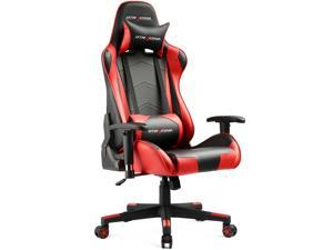 GTracing Ergonomic Office Chair Racing Chair Backrest and Seat Height Adjustment Computer Chair With Pillows Recliner Racing Swivel Rocker Tilt E-sports Chair