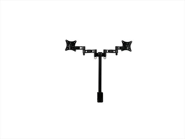 """Rosewill RMS-DDM05 Dual Monitor Desk Mount, Support 13"""" - 27"""" LCD / LED Display VESA 75 / 100, Tilt +/-15 Degree, Swivel 360 Degree, Rotate 360 Degree, Max. Load: 17.64 lbs."""