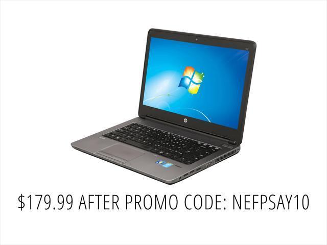 "Refurbished: HP B Grade Laptop ProBook 640 G1 Intel Core i5 4th Gen 4300M (2.60 GHz) 4 GB Memory 320 GB HDD 14.0"" Windows 7 Professional MAR"