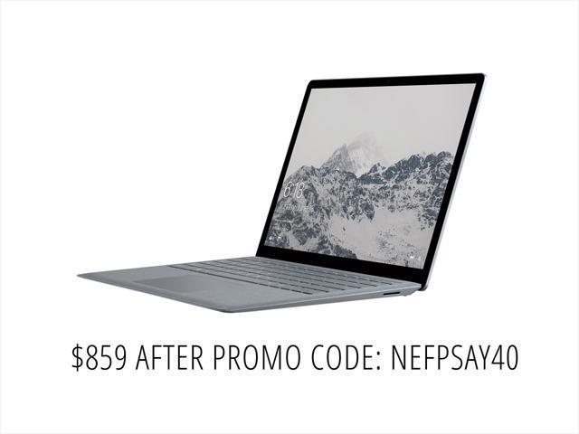 "Microsoft Surface 13.5"" Laptop D9P-00001 Intel Core i5 7th Gen 7200U (2.50 GHz) 4 GB Memory 128 GB SSD Intel HD Graphics 620 Touchscreen Windows 10 S - Platinum"