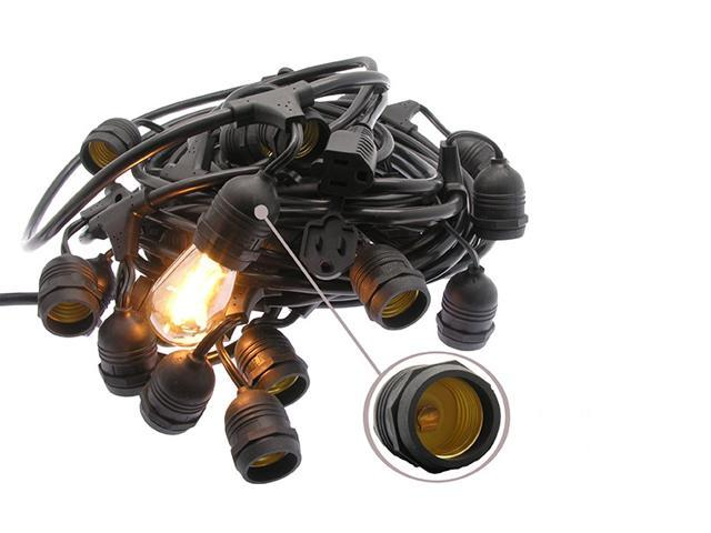 Fuji Labs 48Ft String Light Cable ( Bulbs Not Included )