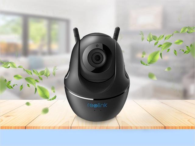 Reolink 4MP Baby Monitor Indoor Security Camera Wireless Wired with LAN Port Support Pan/Tilt, 2.4G/5G Wifi, 2-way Audio, Local Storage C1 Pro(Black)