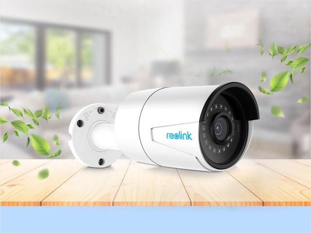 Reolink 5MP Home Monitoring Camera Wired PoE Security Cam Support 100 ft. Night Vision, Motion Detection, Local Storage, Audio, 24/7 Recording, Playback, RLC-410-5MP