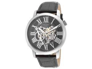 Rotary GLE000015-10 Men's Automatic Black Genuine Leather Skeletonized Dial