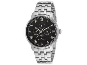 Lucien Piccard Moubra 10527-11 Black Dial  Stainless Steel Men's Watch