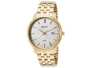 Seiko SUR112P1 Men's Gold-Tone Stainless Steel Silver-Tone Dial Watch