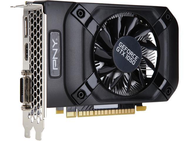 PNY GeForce GTX 1050 DirectX 12 VCGGTX 10502PB-BB 2GB 128-Bit GDDR5 PCI Express 3.0 x16 HDCP Ready Video Card