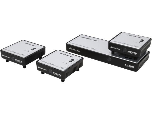 IOGEAR GWHDMS52MBK3 Long Range Wireless 5x2 HDMI Matrix PRO with 2 Additional Receivers