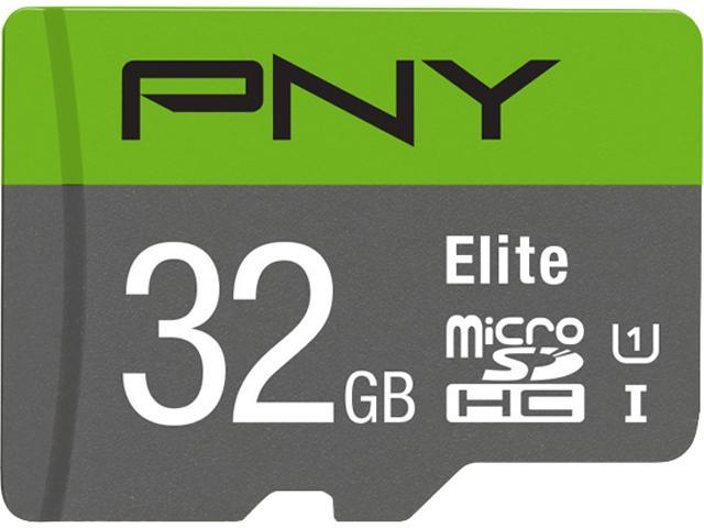 PNY 32GB Elite microSDHC UHS-I/U1 Class 10 Memory Card with Adapter, Speed Up to 85MB/s (P-SDU32U185EL-GE)