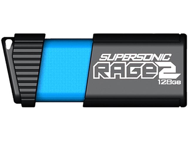 Patriot Memory 128GB Supersonic Rage 2 USB 3.1 Flash Drive, Up to 400MB/s Transfer Speed, Durable Rubber Housing