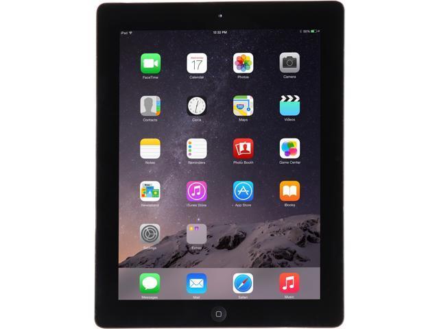 "Refurbished: Apple iPad 4 MD510LL/A 9.7"" Retina Touchscreen 16 GB Apple A6 1.40 GHz iOS 10 Wi-Fi Only Black (B Grade)"